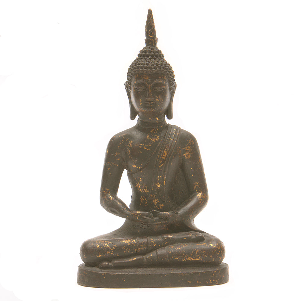 Cast Iron Seated Buddha No 3 - Chinese homewares- Rouge Shop antique stores London - city furniture