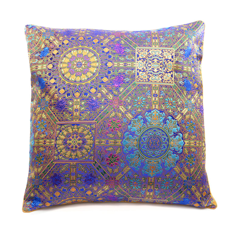 Chinese Cloud Brocade Cushion - Purple - Chinese homewares- Rouge Shop antique stores London - city furniture