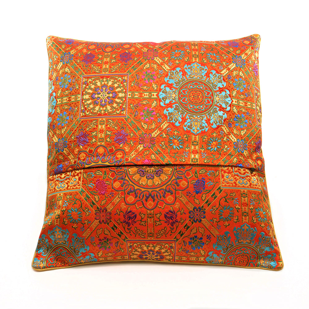 Chinese Cloud Brocade Cushion - Red - Chinese homewares- Rouge Shop antique stores London - city furniture