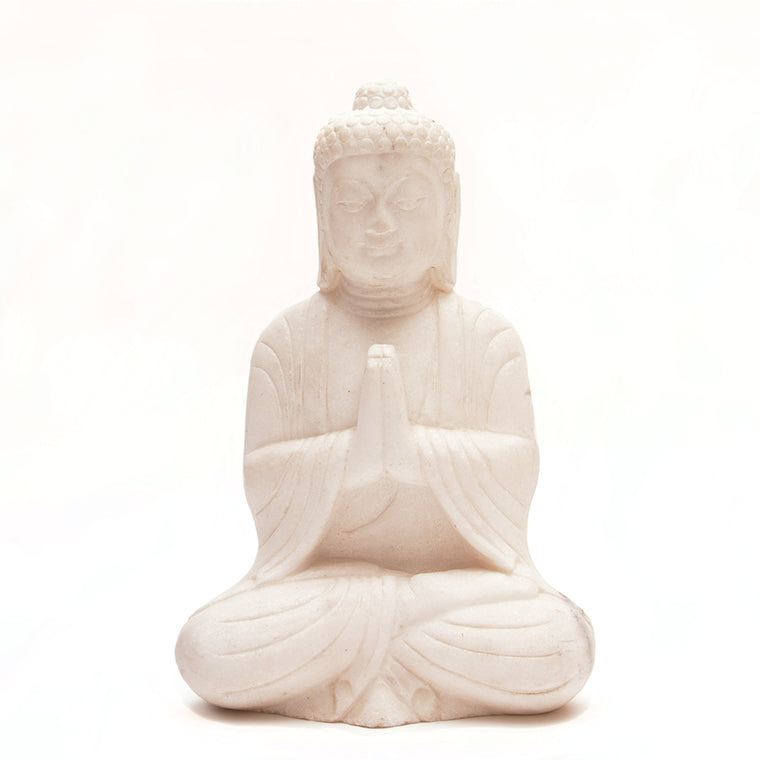 Hand Carved Marble Seated Buddha No 1 - Chinese homewares- Rouge Shop antique stores London - city furniture