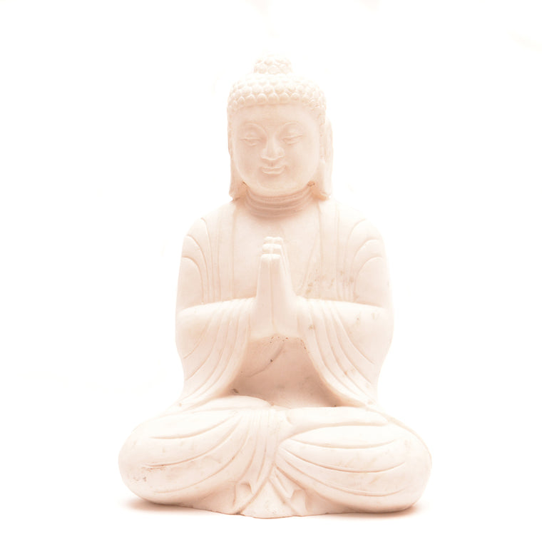 Hand Carved Marble Seated Buddha No 2 - Chinese homewares- Rouge Shop antique stores London - city furniture