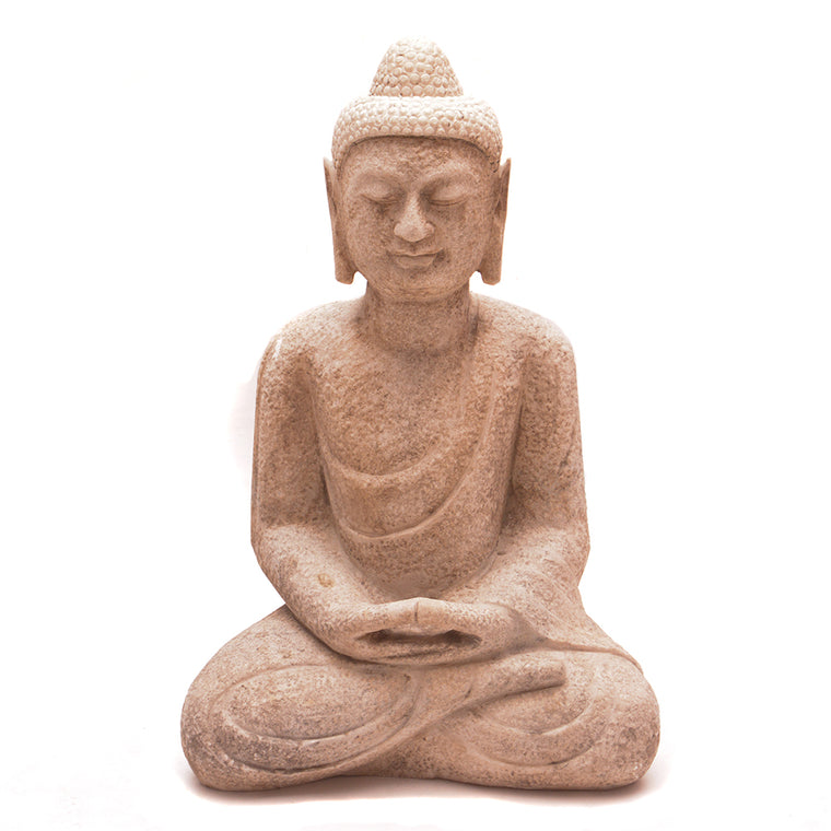 Hand Carved Stone Seated Buddha No 4 - Chinese homewares- Rouge Shop antique stores London - city furniture