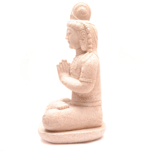 Hand Carved Stone Seated Buddha No 5 - Chinese homewares- Rouge Shop antique stores London - city furniture
