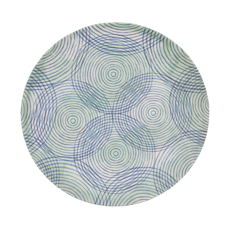 UNC Bamboo Plate - Coloured Circles