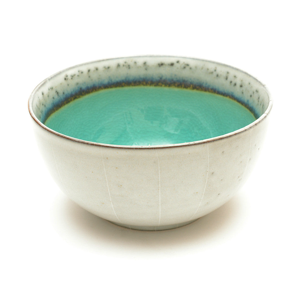 Dakara Ceramic Bowl with Aqua Green Crackle Glaze - Chinese homewares- Rouge Shop antique stores London - city furniture