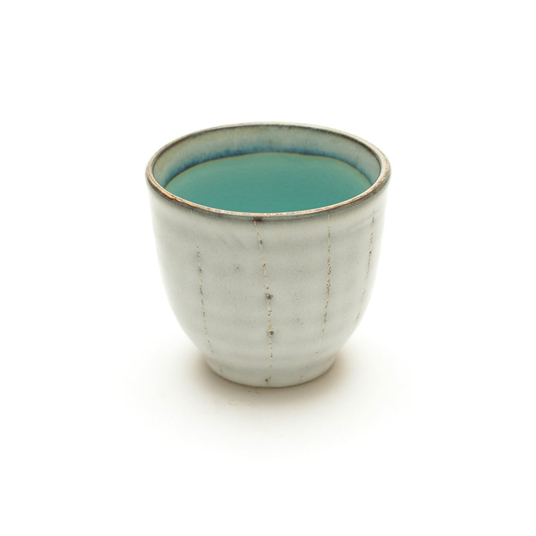 Dakara Ceramic Teacup with Turquoise Crackle Glaze - Chinese homewares- Rouge Shop antique stores London - city furniture