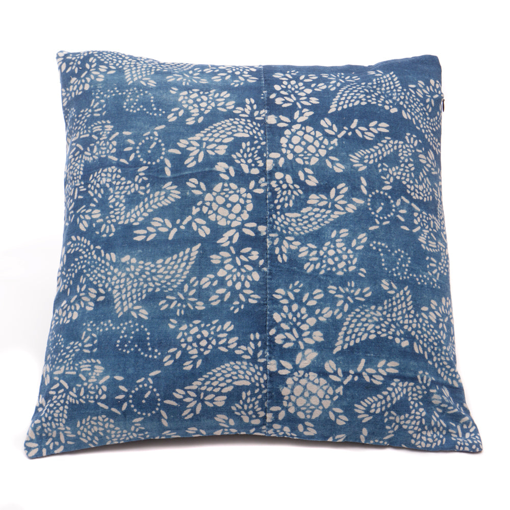 Vintage Indigo Handmade Cushion No 10 - Chinese homewares- Rouge Shop antique stores London - city furniture