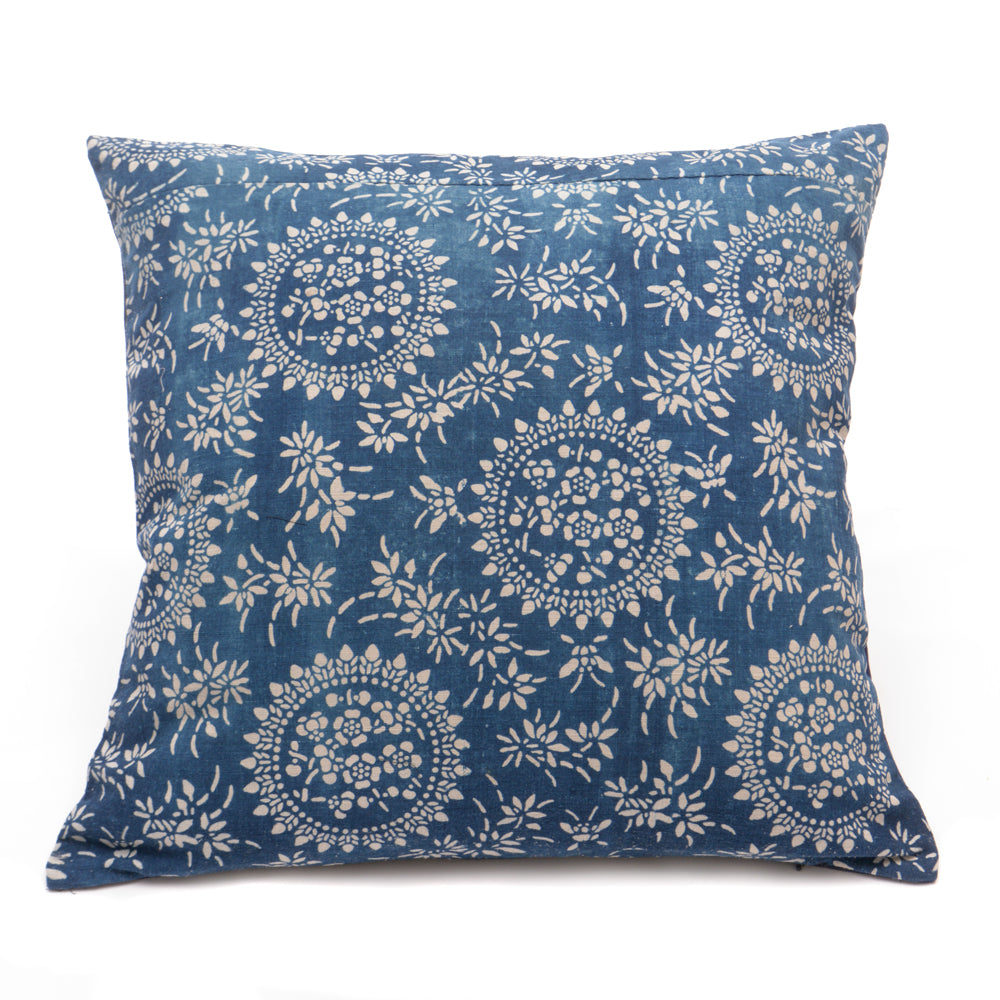 Vintage Indigo Handmade Cushion No 1 - Chinese homewares- Rouge Shop antique stores London - city furniture