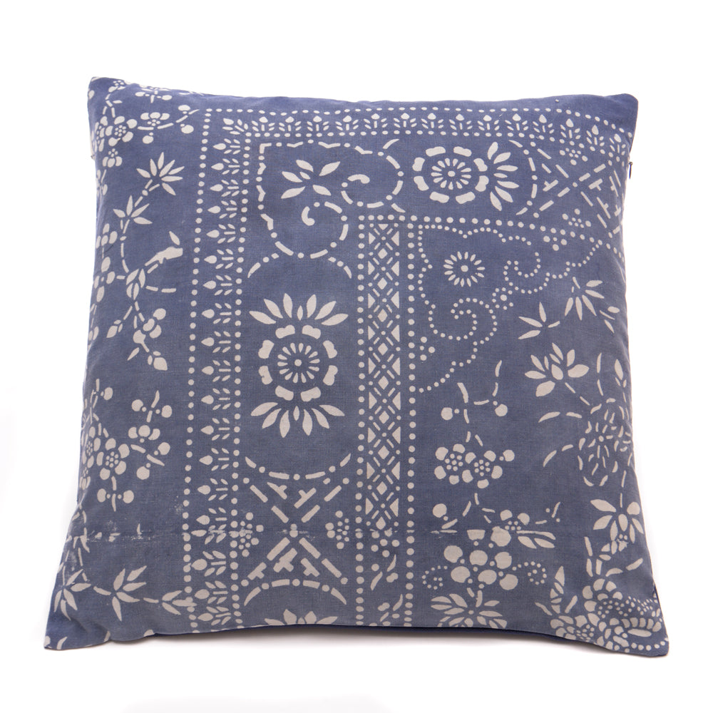 Vintage Indigo Handmade Cushion No 7 - Chinese homewares- Rouge Shop antique stores London - city furniture