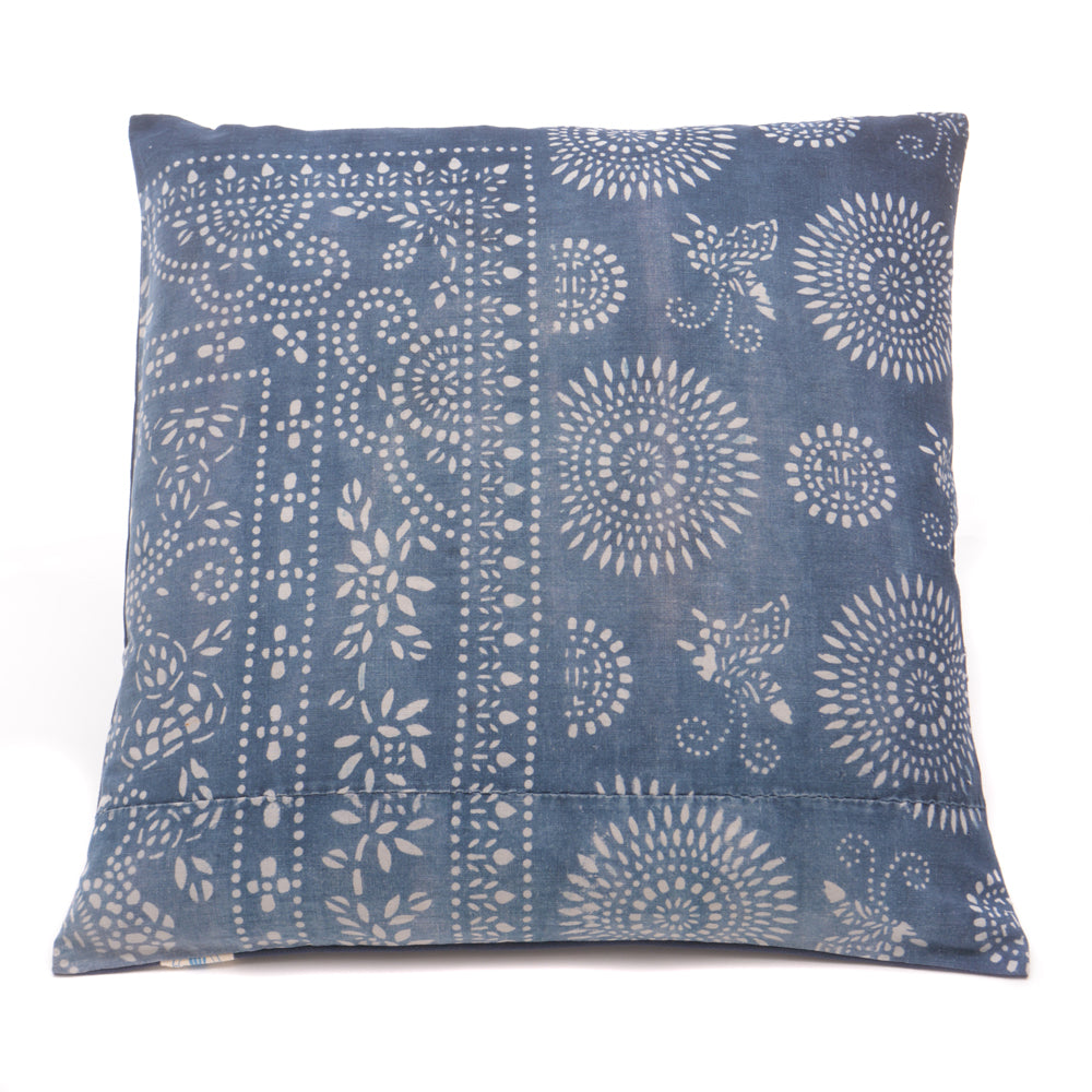 Vintage Indigo Handmade Cushion No 8 - Chinese homewares- Rouge Shop antique stores London - city furniture