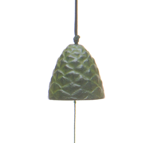 Japanese Cast Iron Pine Cone Bell - Green - Chinese homewares- Rouge Shop antique stores London - city furniture