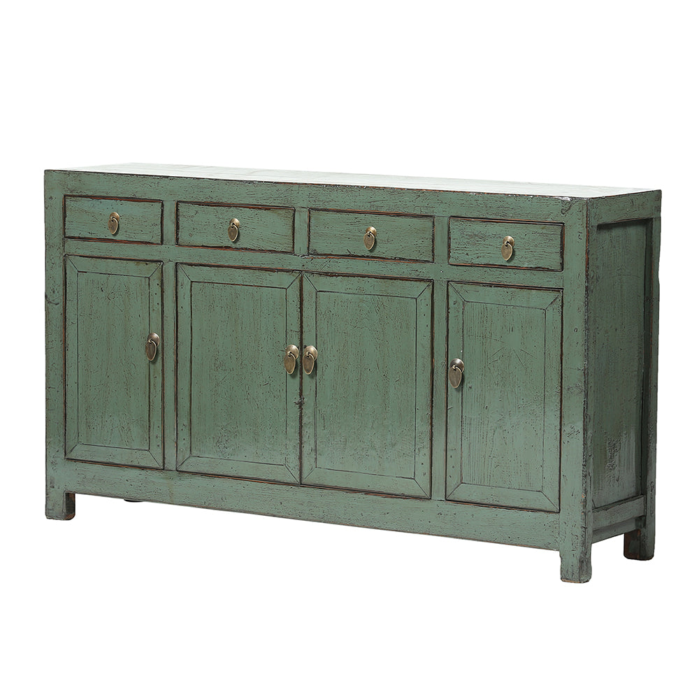 Grey Vintage Chinese Sideboard from Dongbei