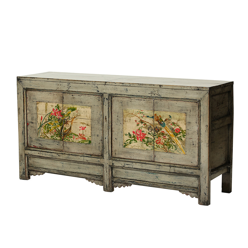 Vintage Grey Sideboard from Gansu - Chinese homewares- Rouge Shop antique stores London - city furniture
