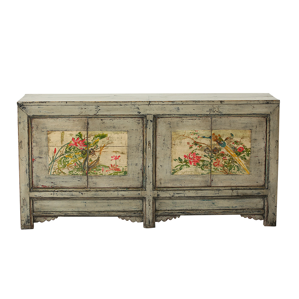 Vintage Grey Sideboard from Gansu