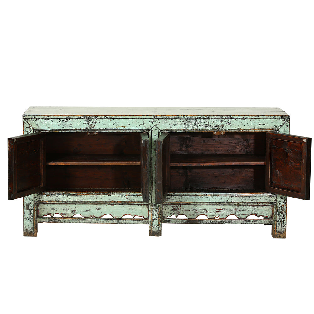 Pastel Green Vintage Sideboard from Gansu - Chinese homewares- Rouge Shop antique stores London - city furniture