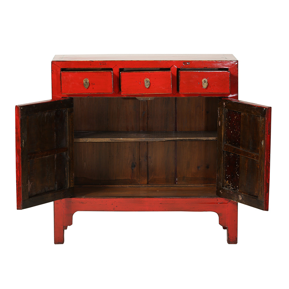 Red Vintage Cabinet from Shandong - Chinese homewares- Rouge Shop antique stores London - city furniture