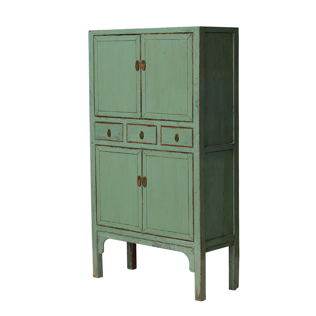 Tall Green Vintage Cupboard from Hebei