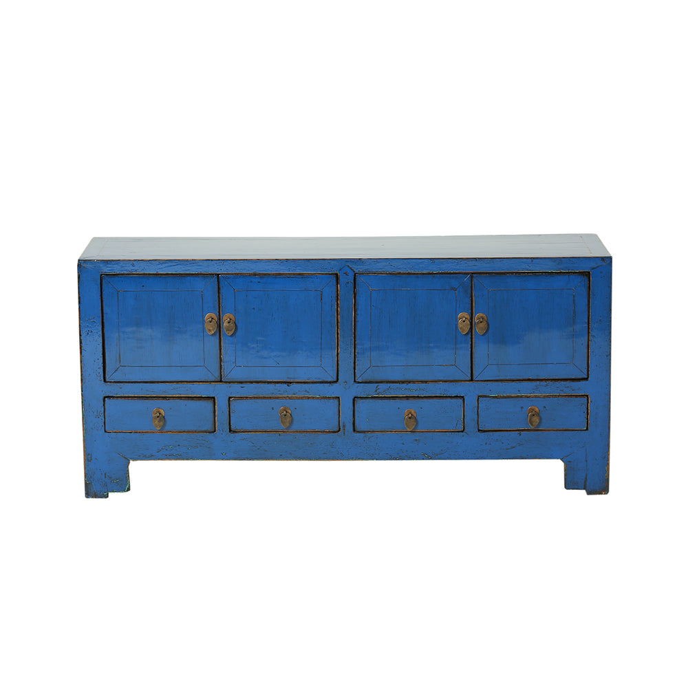 Low Blue Vintage Sideboard from Tianjin