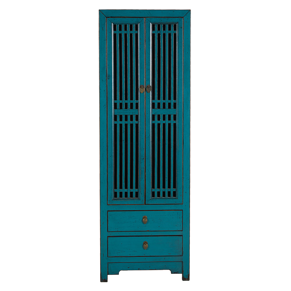 Contemporary Aqua Blue Chinese Cabinet - Chinese homewares- Rouge Shop antique stores London - city furniture