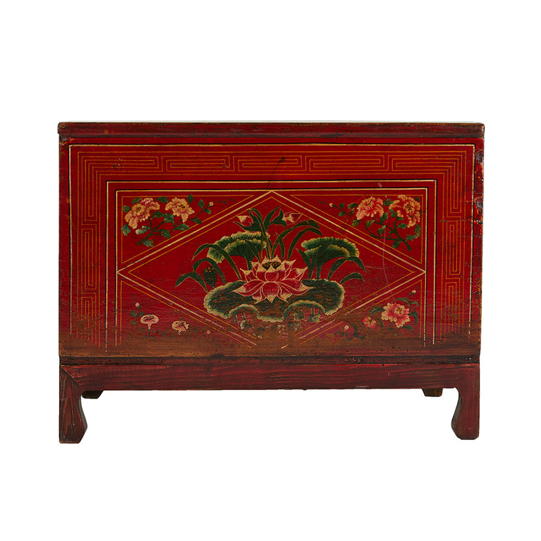 Vintage Painted Chinese Chest from Shanxi - Chinese homewares- Rouge Shop antique stores London - city furniture