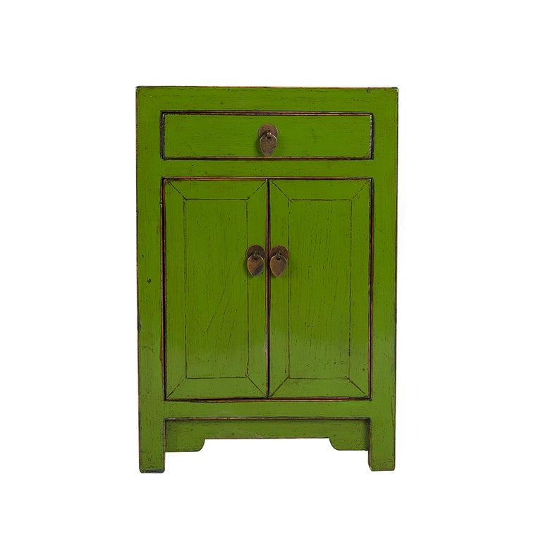 Green Chinese Bedside Cabinet Shandong Style - Chinese homewares- Rouge Shop antique stores London - city furniture