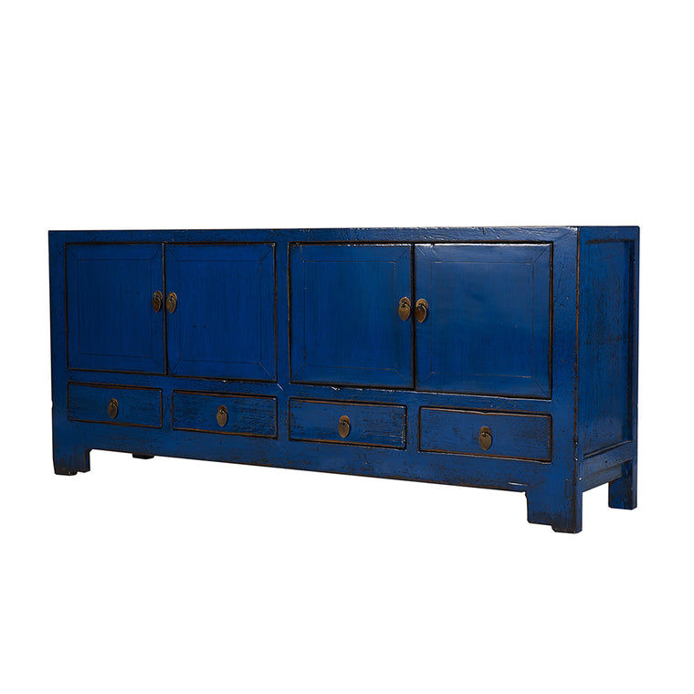 Blue Vintage Sideboard from Tianjin - Chinese homewares- Rouge Shop antique stores London - city furniture