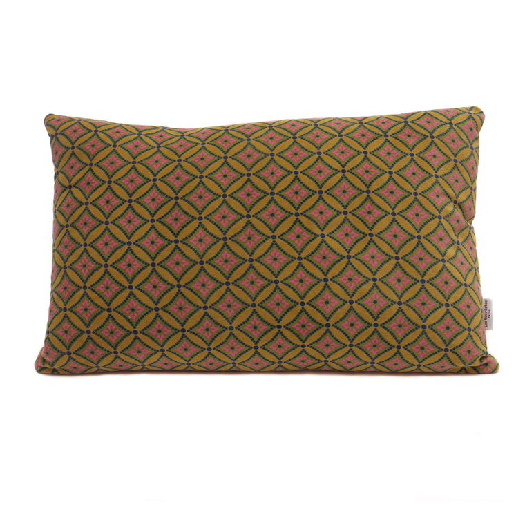 Cotton Velvet Cushion - Bora Gold