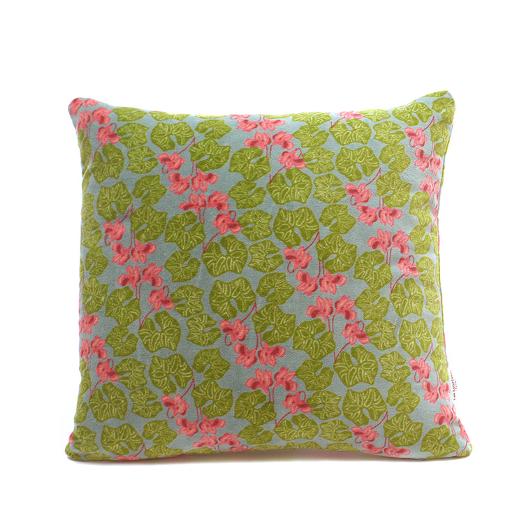 Cotton Velvet Cushion - Cyclamen Silex