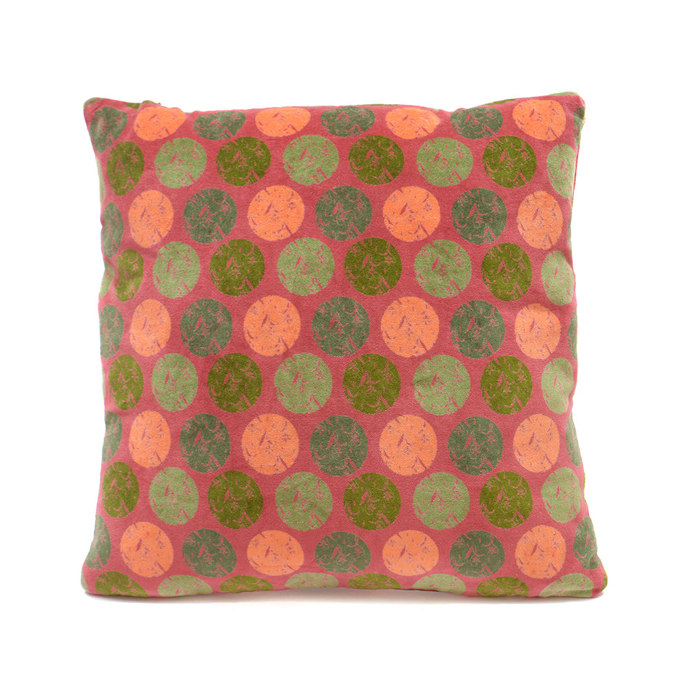 Cotton Velvet Cushion - Snowdrop Brick