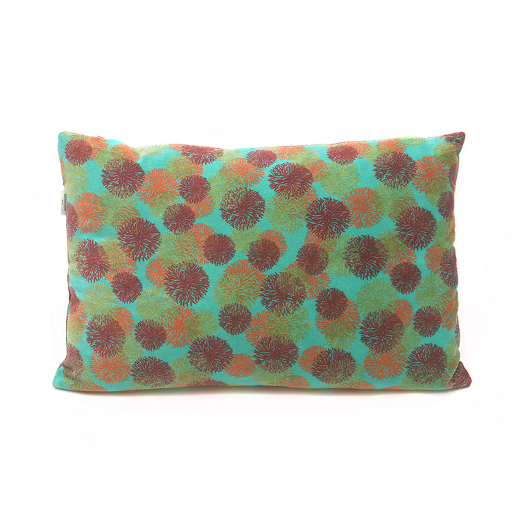 Cotton Velvet Cushion - Reef Turquoise - Chinese homewares- Rouge Shop antique stores London - city furniture