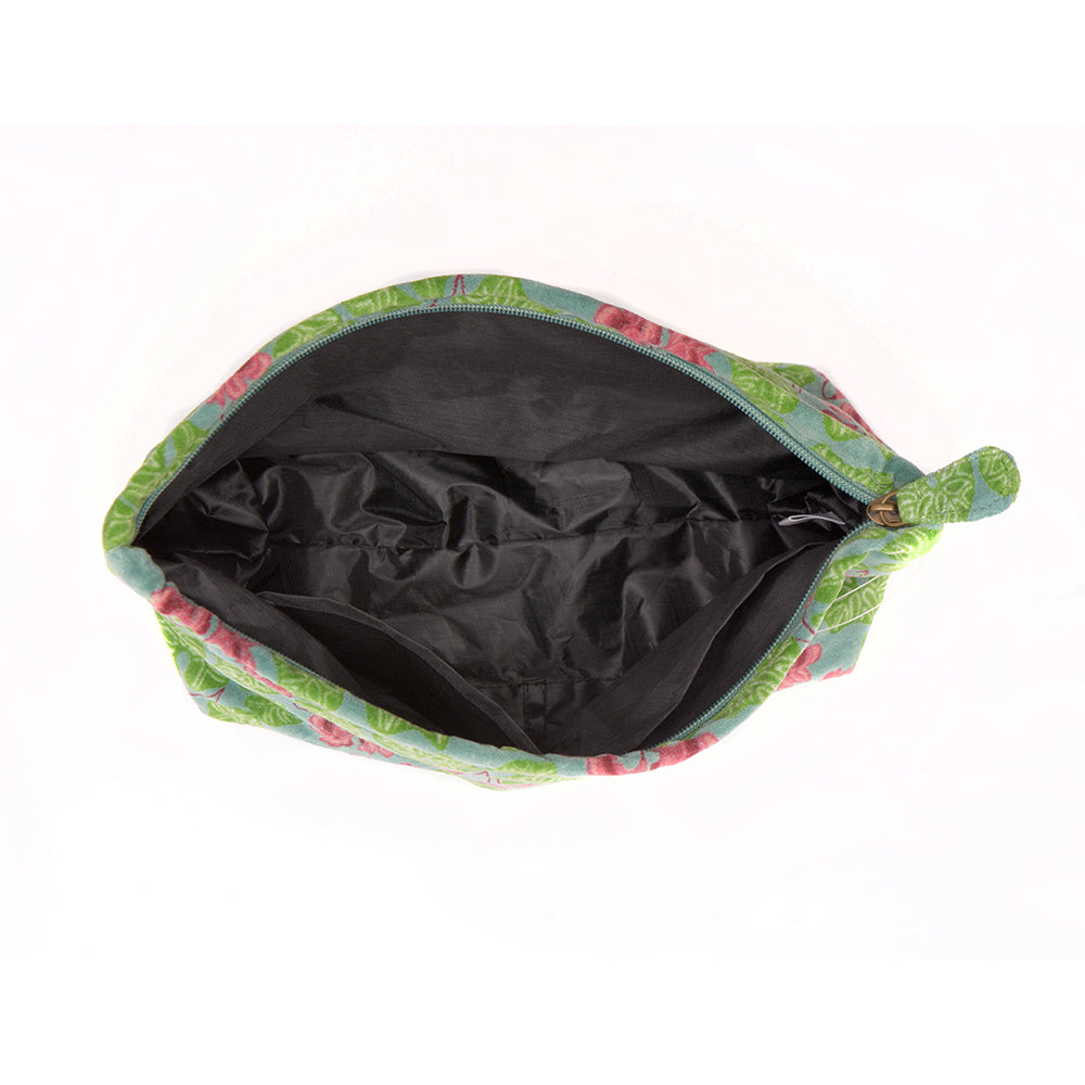 Cotton Velvet Washbag Bag - Cyclamen Silex - Chinese homewares- Rouge Shop antique stores London - city furniture