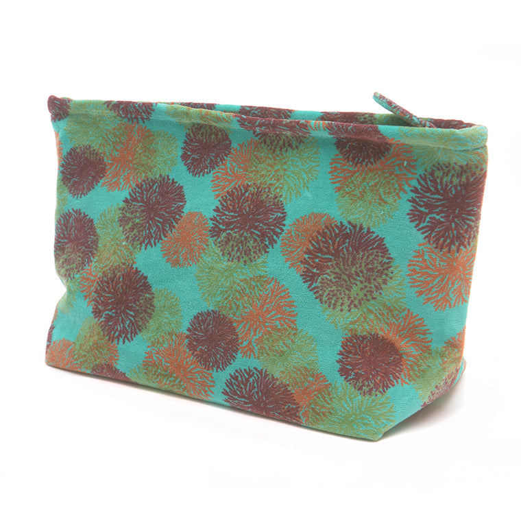 Cotton Velvet Washbag Bag - Turquoise Reef - Chinese homewares- Rouge Shop antique stores London - city furniture