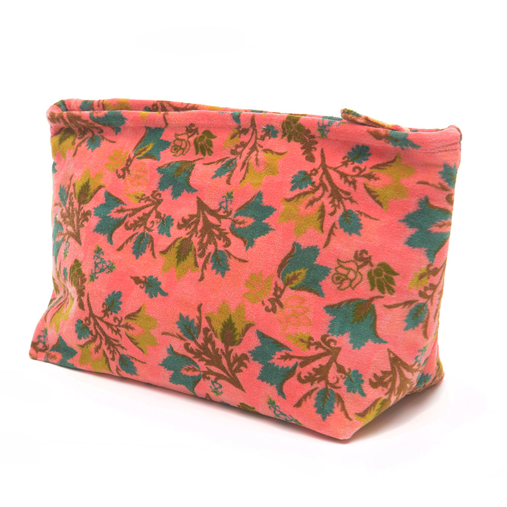 Cotton Velvet Washbag Bag - Suzani Candy - Chinese homewares- Rouge Shop antique stores London - city furniture