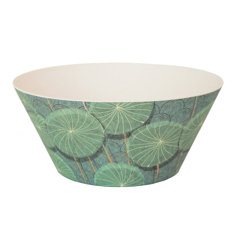 UNC Bamboo Serving Bowl - Nymphaea