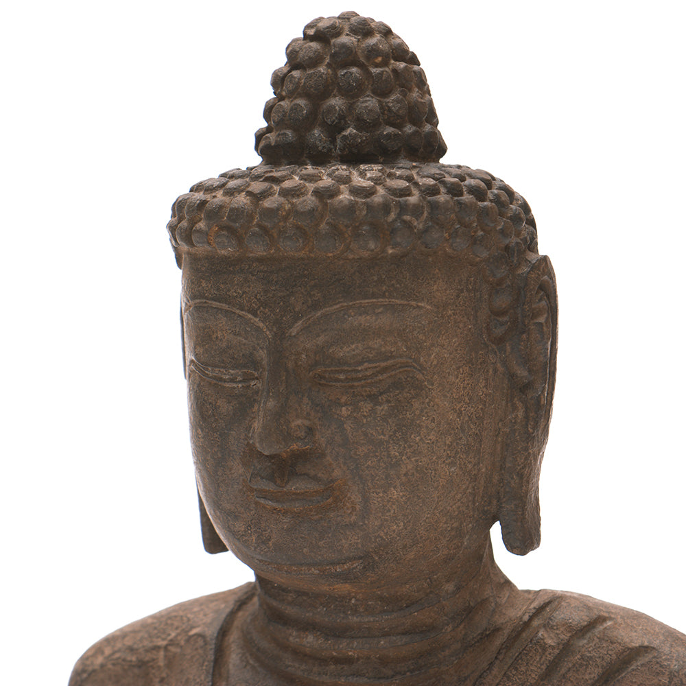 Hand Carved Stone Seated Buddha No 7 - Chinese homewares- Rouge Shop antique stores London - city furniture