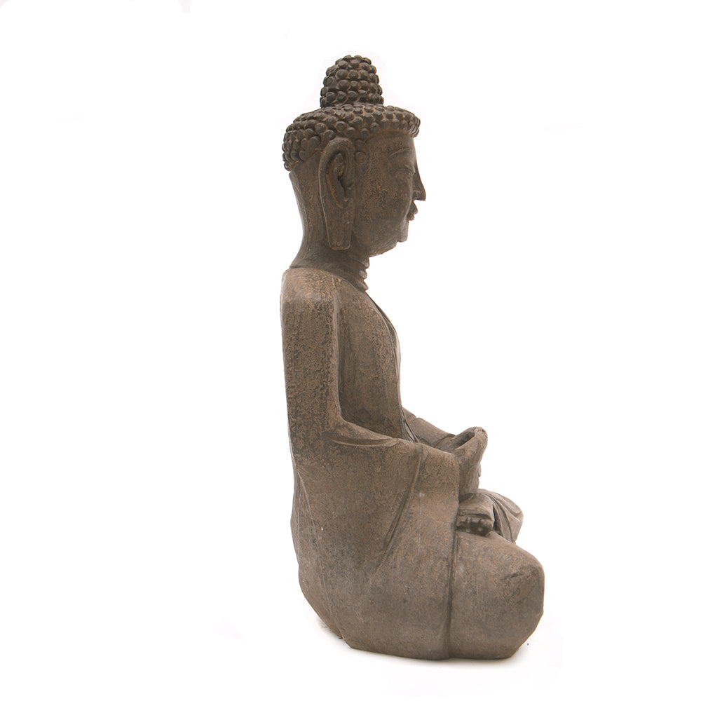 Hand Carved Stone Seated Buddha No 7