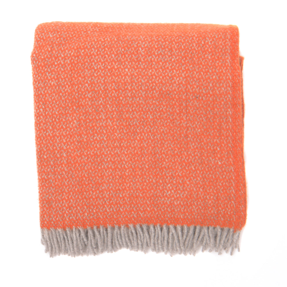 Illusion Weave Blanket - Pumpkin - Chinese homewares- Rouge Shop antique stores London - city furniture