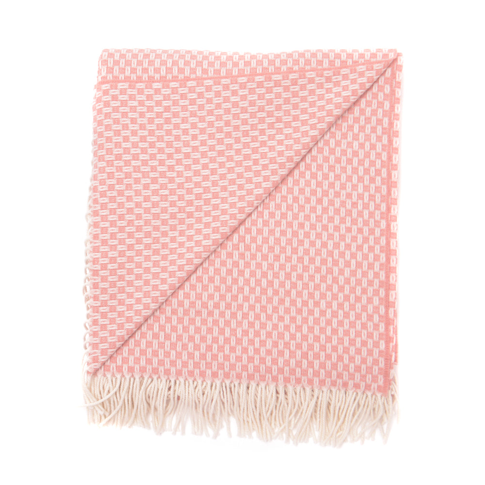 Willow Weave Merino Blanket - Blush
