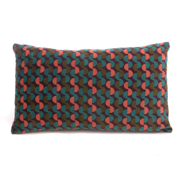 Cotton Velvet Cushion - Malmo Fig - Chinese homewares- Rouge Shop antique stores London - city furniture