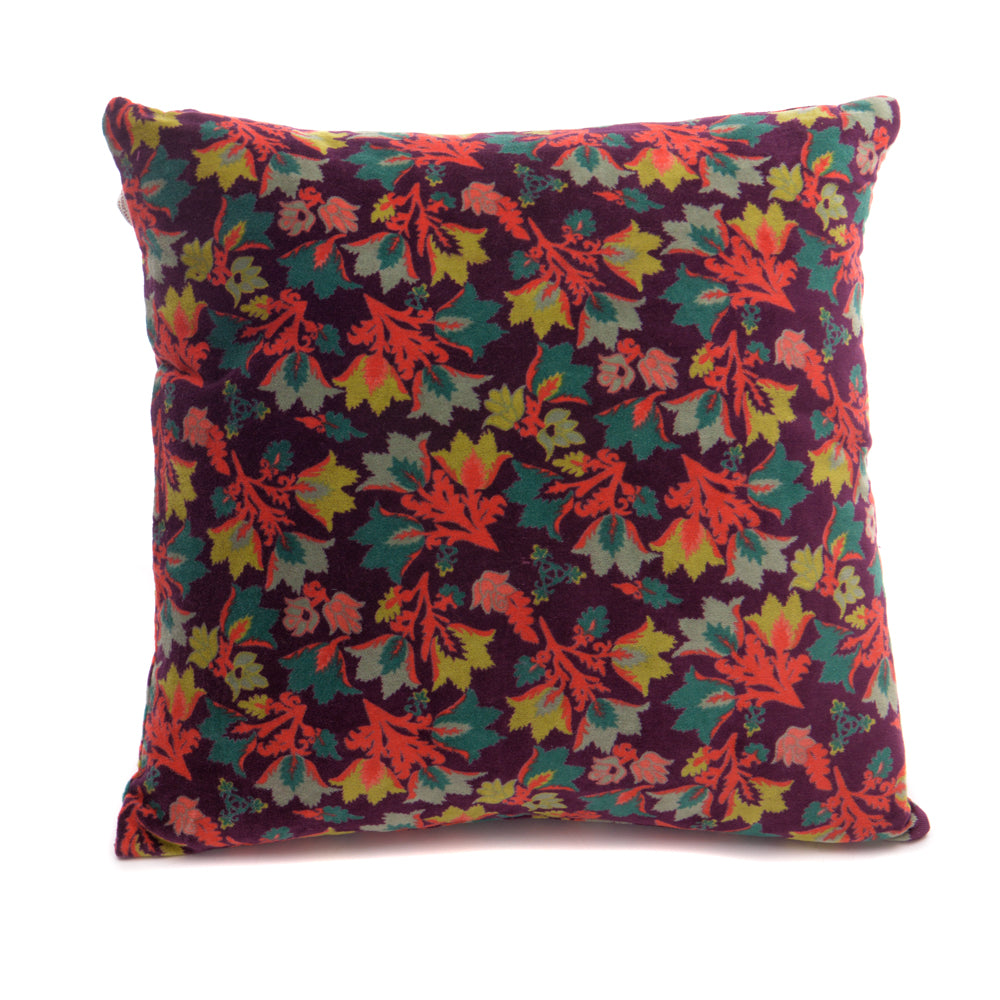 Cotton Velvet Cushion - Suzani Fig - Chinese homewares- Rouge Shop antique stores London - city furniture