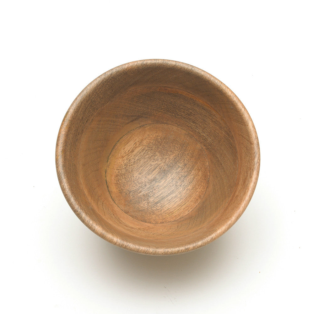 Mango Wood Indus Small Salad Bowl from Nkuku from above