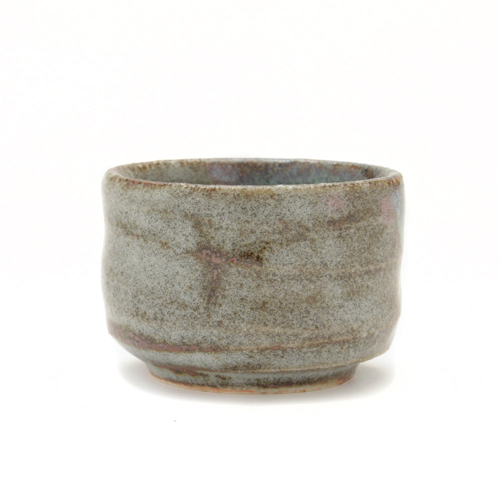 Japanese Sake Cup - Brown Grey and Green