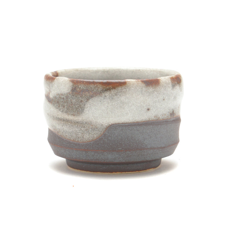 Japanese Sake Cup - Brown and Grey