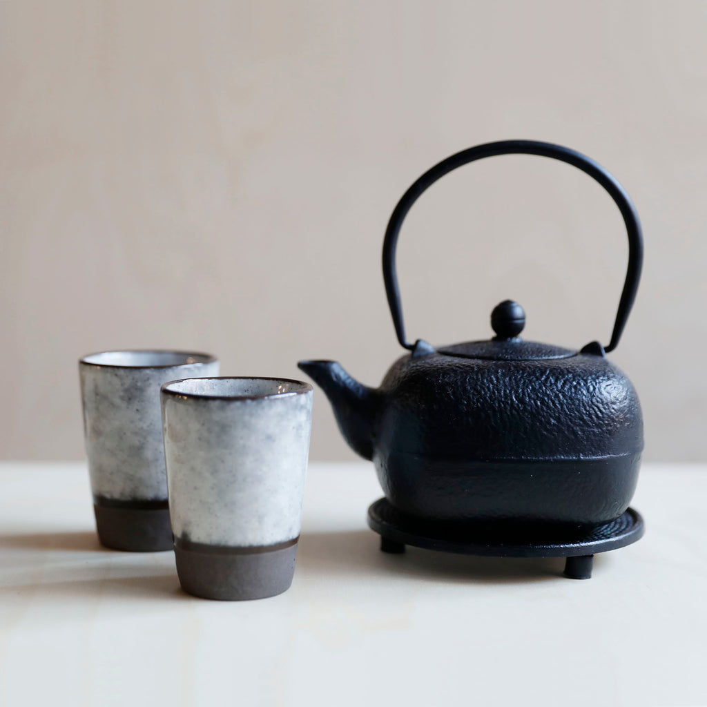 Black Cast Iron Teapot Cube – 0.5l