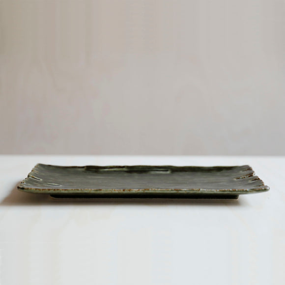 Dark Green Oblong Plate