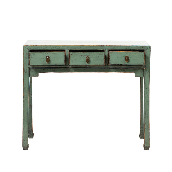 Vintage Chinese Green Grey Console Table