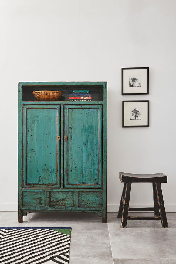 Tall Green Cabinet from Shandong