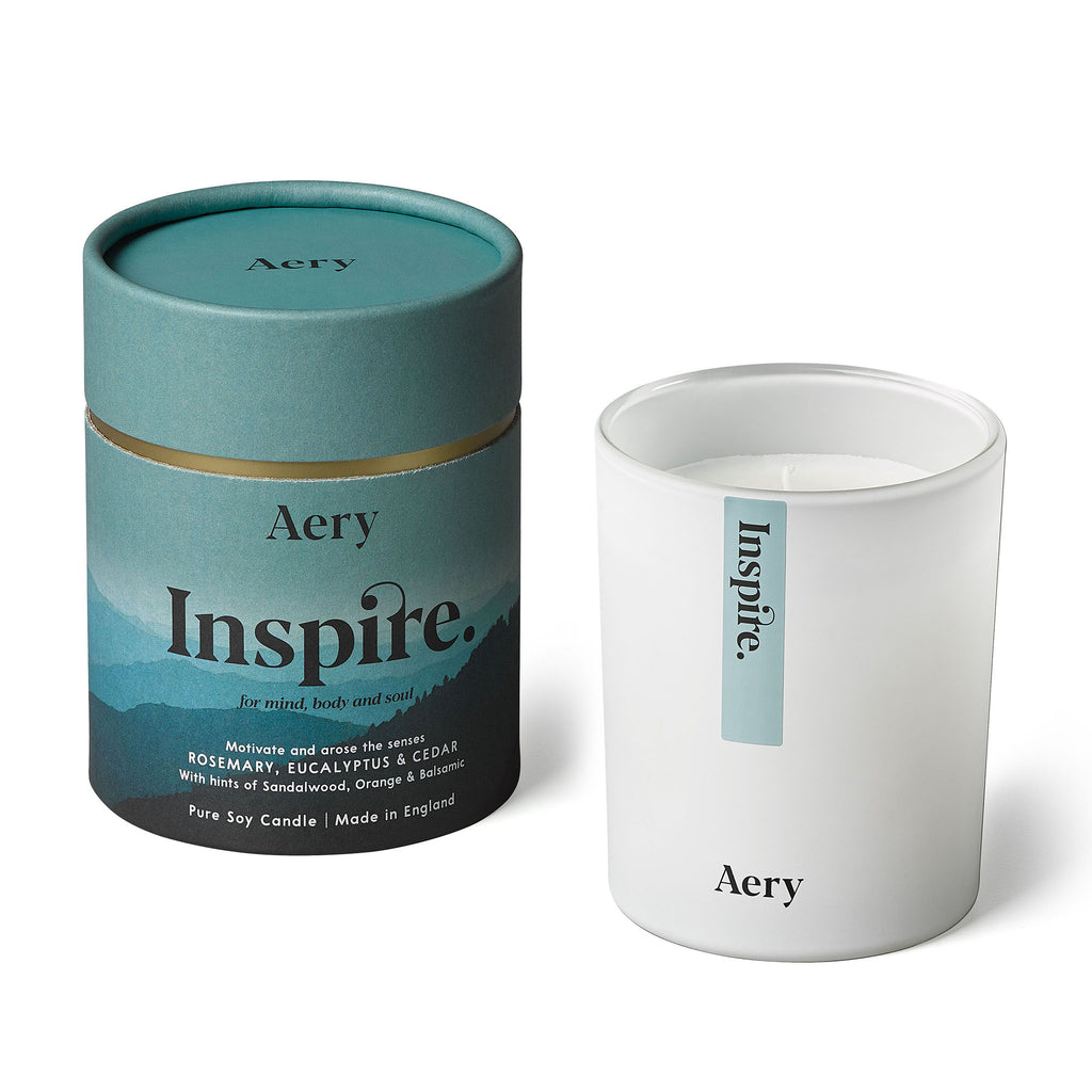 Inspire Scented Candle - Rosemary Eucalyptus and Cedar