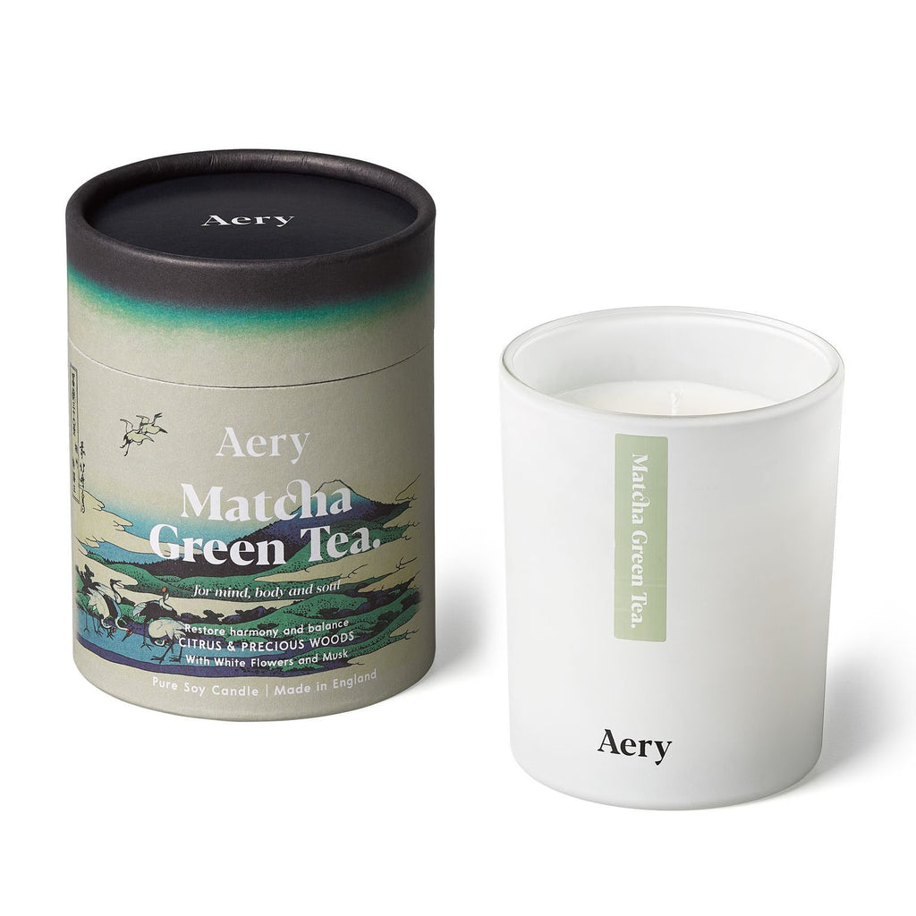 Matcha Green Tea Scented Candle - Citrus and Precious Woods