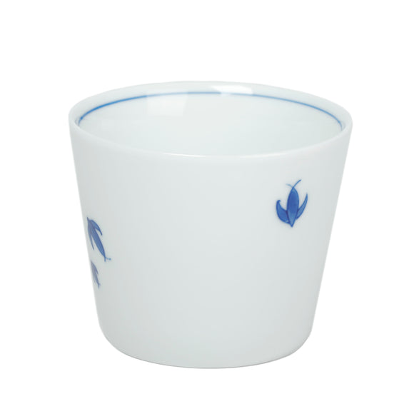 Cobalt Blue and White Porcelain Cup with Small Fish motif
